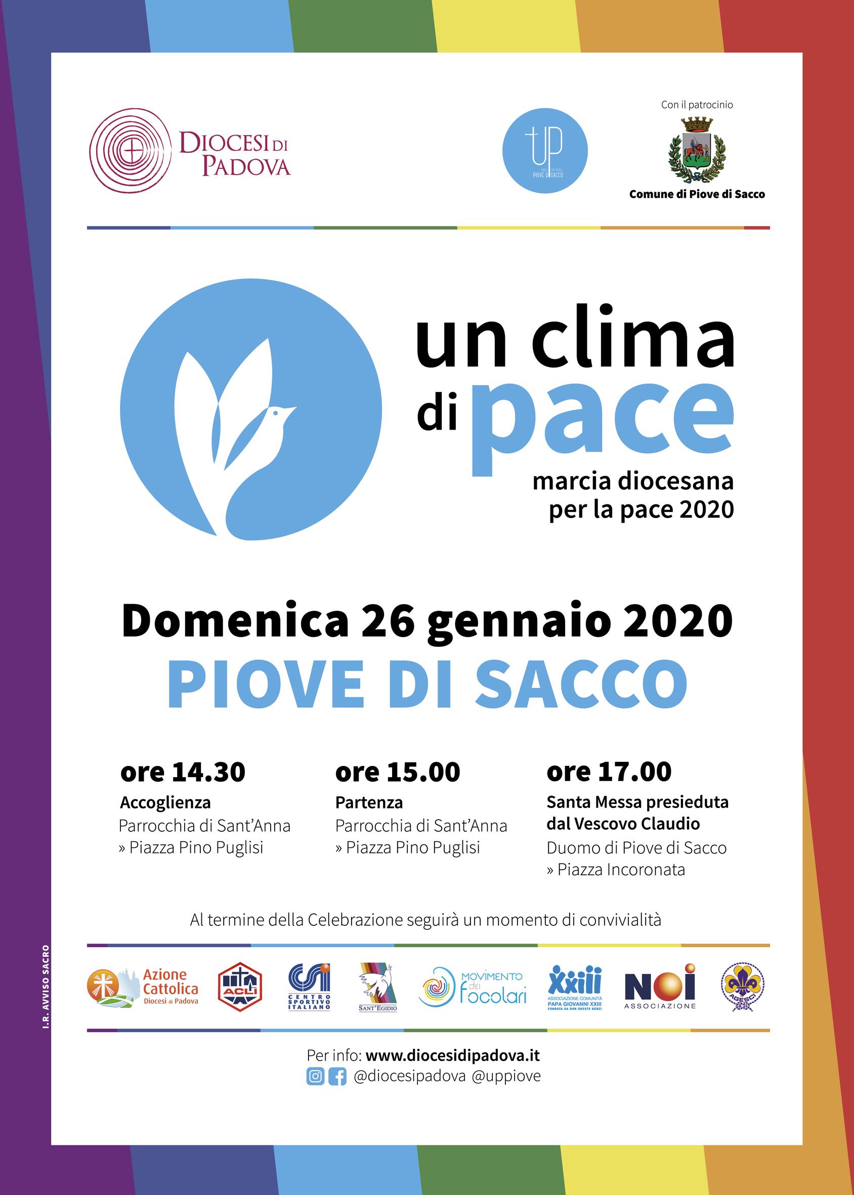 Locandina Marcia della Pace 2020